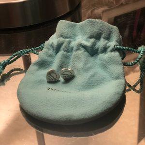 Tiffany's Mini Heart Tag Earrings